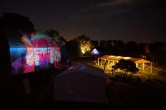Lichtinstallation beim Sommerfest