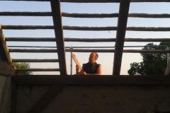 Dachabdecken an der Scheune