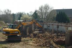 Die Südscheune im Abriss